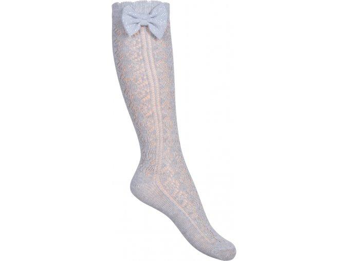 Ponožky Move by Melton - podkolenky Florence Bow Light Grey Melange