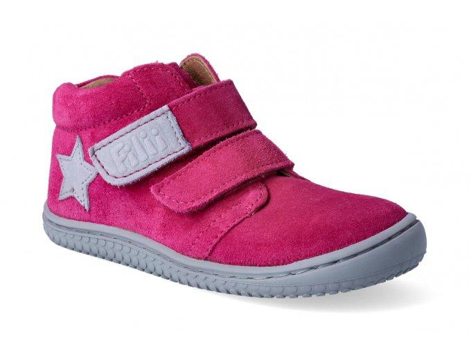 filii barefoot chameleon velours pink velcro m 2