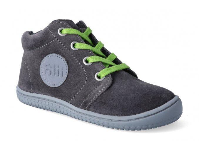 barefoot kotnikova obuv filii gecko velours graphit 2