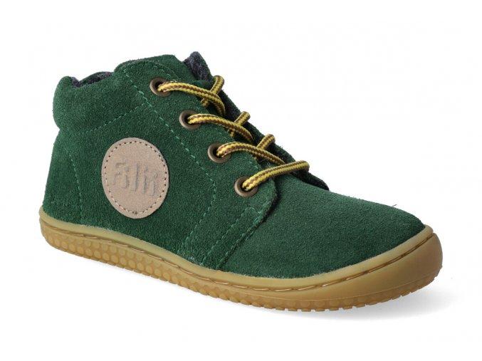 barefoot kotnikova obuv filii gecko velours forest laces m 3