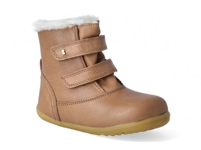 zimni obuv bobux aspen winter boot caramel step up 2