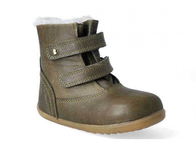 zimni obuv bobux aspen winter boot olive step up 3