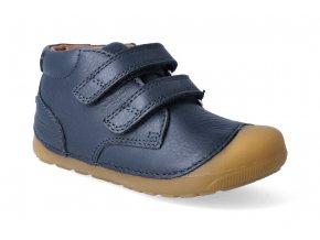 kotnikova barefoot obuv bundgaard petit velcro navy 3