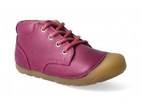 kotnikova barefoot obuv bundgaard petit lace rose wine 2