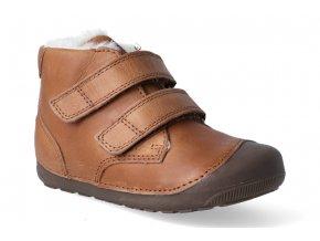 barefoot zimni obuv bundgaard petit winter mid velcro brown 3