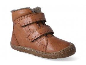 zimni obuv froddo barefoot wool cognac 3