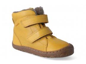 zimni obuv froddo barefoot wool yellow 2