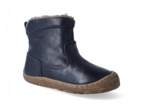 zimni obuv froddo barefoot chelsea wool dark blue 2