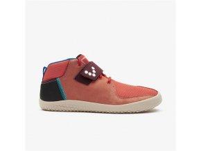 Barefoot kotníková obuv Vivobarefoot - Primus Bootie J Terracotta