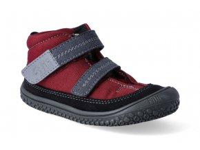 barefoot kotnikova obuv s membranou viper vegan tex berry 2