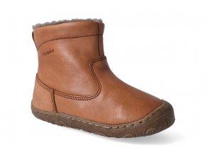 zimni obuv froddo barefoot chelsea wool cognac 2