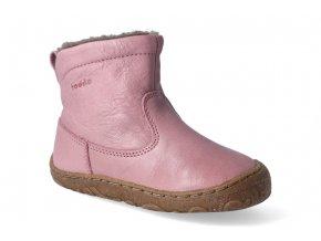 zimni obuv froddo barefoot chelsea wool pink 2