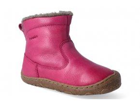 zimni obuv froddo barefoot chelsea wool fuchsia 3