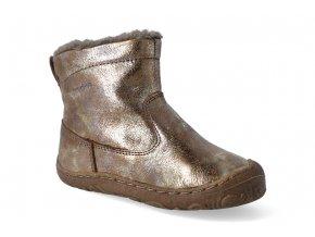 zimni obuv froddo barefoot chelsea wool gold 2