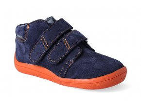 barefoot kotnikova obuv s membranou beda blue mandarine 2