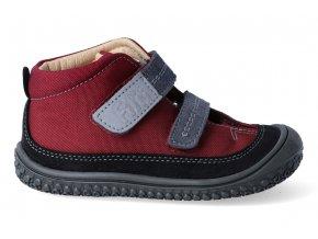 Barefoot kotníková obuv Filii - Viper vegan tex berry M