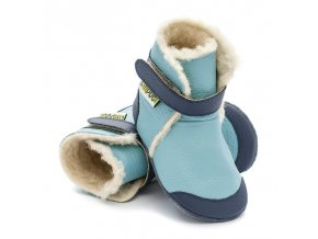 liliputi soft soled booties eskimo blue 2874