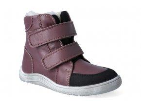 barefoot zimni obuv s membranou baby bare febo winter bordo asfaltico 3