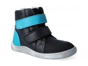 barefoot zimni obuv s membranou baby bare febo winter black asfaltico 3