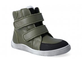 barefoot zimni obuv s membranou baby bare febo winter khaki asfaltico 3