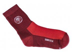 ponozky surtex active 80 merino cervene pro 1