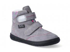 barefoot zimni s membranou obuv jonap b5 seda 2