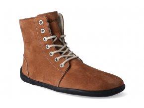 zimni barefoot obuv be lenka winter cognac 2