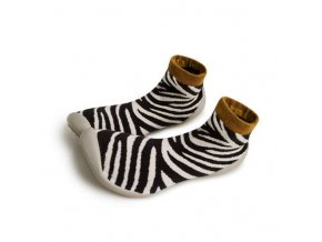 955f chaussons chaussettes africa zebra adult