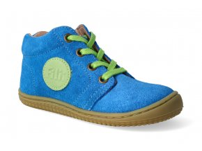 barefoot kotnikova obuv gecko electric blue m 3