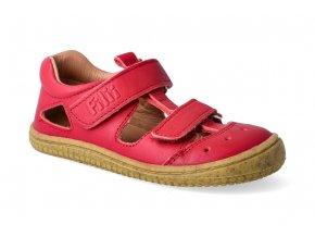 barefoot sandalky filii bio kaiman nappa strawberry m 2 2