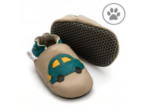 liliputi soft paws baby shoes green car 4261