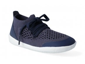 barefoot capacky bobux xplorer play knit trainer navy 2