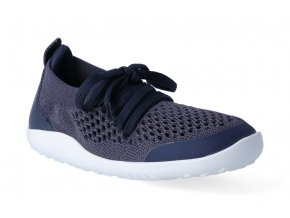 barefoot tenisky bobux play knit trainer navy 2