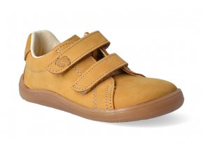 barefoot tenisky baby bare febo spring mustard 3