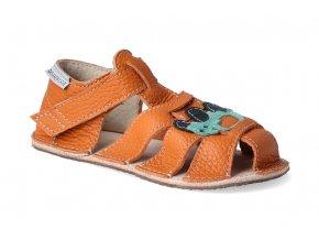 barefoot sandalky orto palm oranzove s trakturkem 3