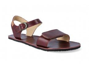 barefoot sandaly tikki shoes vibe burgundy 3