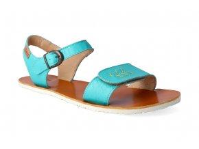 barefoot sandaly tikki shoes vibe golden turquoise 2