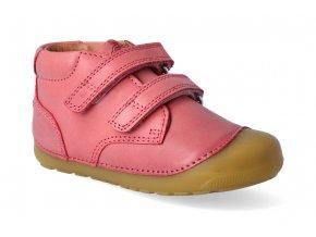 barefoot kotnikova obuv bundgaard petit velcro soft rose 2