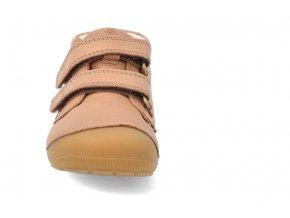 barefoot kotnikova obuv bundgaard petit velcro caramel 3
