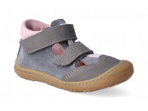 barefoot sandalky ricosta pepino ebi graphit rose 3