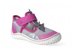 barefoot tenisky ricosta pepino flipp grau neon pink 2