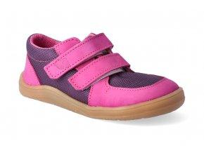 barefoot tenisky baby bare febo sneakers fuchsia purple resina 3