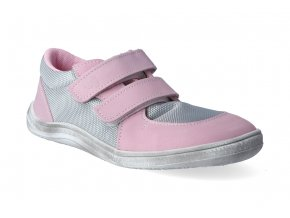 barefoot tenisky baby bare febo sneakers grey pink white 3