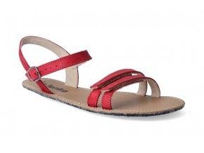 barefoot sandaly be lenka summer red 2