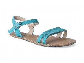 barefoot sandaly be lenka summer turquoise 3