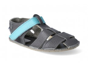 barefoot sandalky baby bare sandals new blue beetle paskove 4