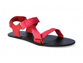 barefoot sandaly be lenka flexi red 2