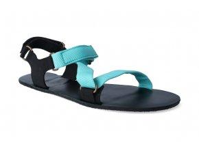 barefoot sandaly be lenka flexi turquoise 2