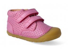 barefoot kotnikova obuv bundgaard petit velcro perft fuchia 3