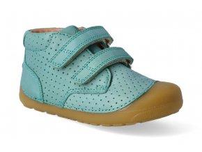 barefoot kotnikova obuv bundgaard petit velcro perft pine green 2